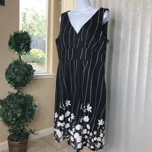SPENSE Sleeveless Dress   Black/White   Size 14